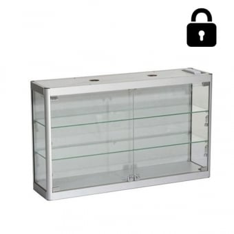 Silver Wall Mounted Display Cabinet - 800mm