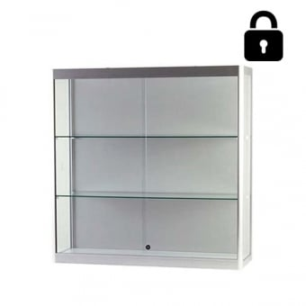 Silver Wall Mounted Display Case - 1000mm