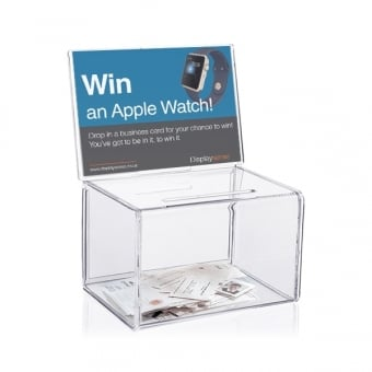 Small Clear Acrylic Suggestion Box with Insert
