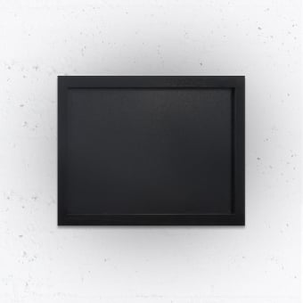 Small Wall Mounted Chalkboard with Black Wooden Frame