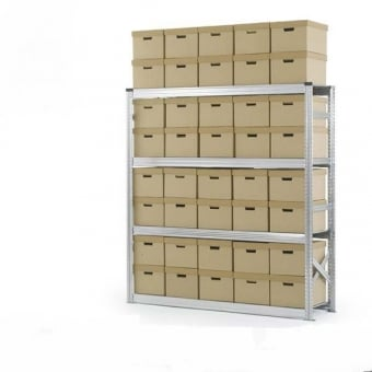 4 Tier Archive Storage Racking - 1800mm x 1972mm x 500mm