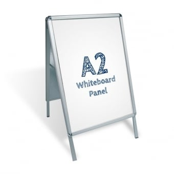 A2 A-Board Pavement Sign - PVC Whiteboard Insert