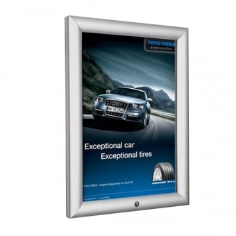 A3 Lockable Silver Snap Frame