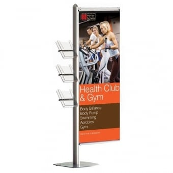 A4 Leaflet and Banner Display Stand - MFS Range