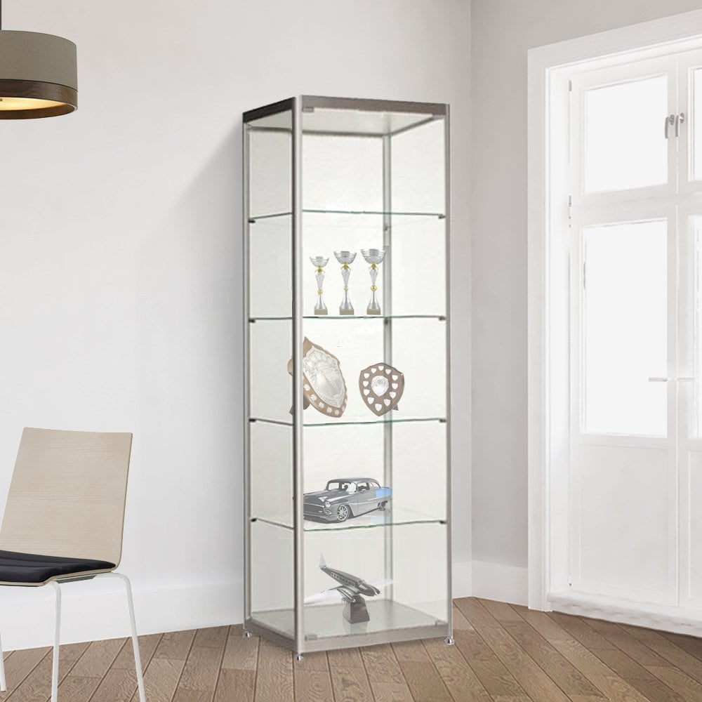 silver glass display cabinet 600mm displaysense rh displaysense ie silver glass display cabinet argos