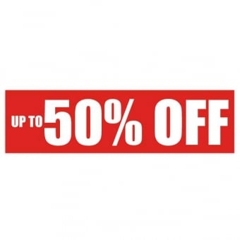 Up To 50% Off Sale Poster - 1000mm x 250mm