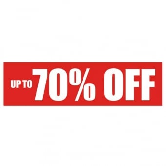 Up To 70% Off Sale Poster - 1000mm x 250mm