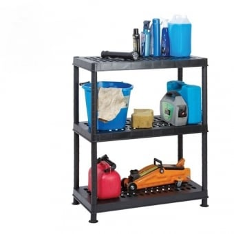 Ventilated Heavy Duty Plastic Shelving - 3 Tier