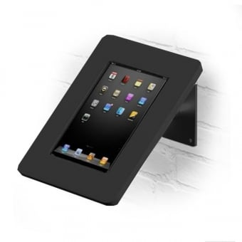 Wall and Desktop Anti-Theft Black Tablet Stand with Acrylic Case 9-10