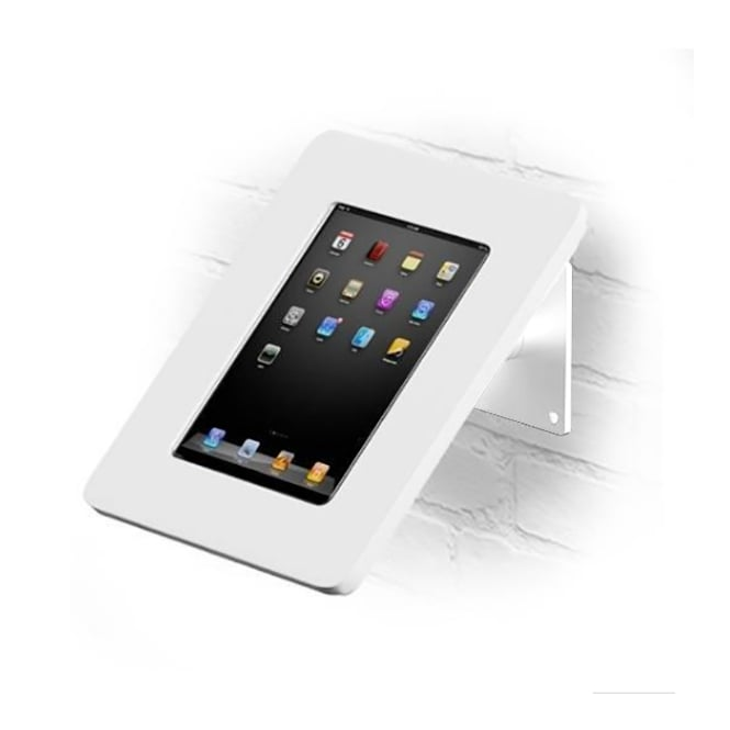 Wall and Desktop Anti-Theft White iPad Stand with Acrylic Case 9.7""