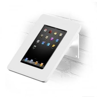 Wall and Desktop Anti-Theft White iPad Stand with Acrylic Case 9.7
