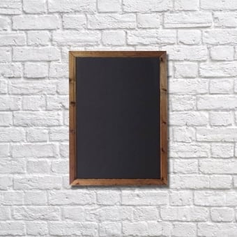 Wall Mounted A3 Chalkboard with Dark Oak Frame