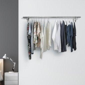 Wall Mounted Clothes Hanging Rail 1220mm