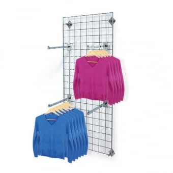 Wall Mounted Gridwall Mesh Panel - Straight Clothes Arm