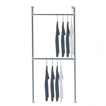 Wall Mounted Industrial Scaffolding Clothes Rail