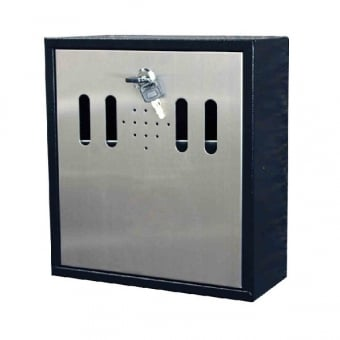 Wall Mounted Smokers Ash Tray Bin - Grey