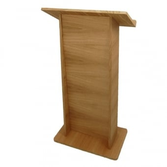 Wooden Lectern - Oak Finish - Assembled